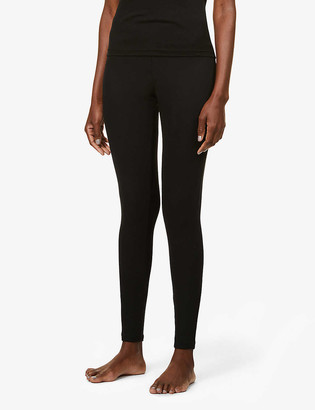 Skin Norma ribbed high-rise cotton-blend leggings