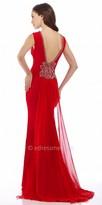 Nika Rosette And Chiffon Evening Dress