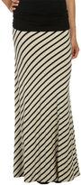 Bias Stripe Maxi Skirt