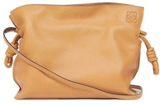 Loewe Flamenco Drawstring Leather Cross-body Bag - Light Tan