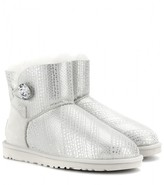 UGG Mini Bailey Button Bling shearling-lined boots