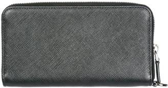Prada Saffiano Continental Zip Wallet