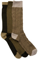 Lucky Brand Marled Colorblock Crew Cut Socks - Pack of 3