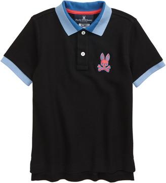 Psycho Bunny Kids' Arlington Pima Cotton Pique Polo