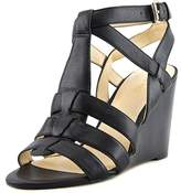 Nine West Women's Farfalla Sandal, Black2 Leather, Size 9.5