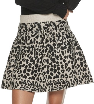 Candies Juniors' Candie's Fit & Flare Sweater Skirt