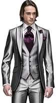 MYS Men's Custom Made Groomsman Tuxedo Suit Pants Vest and Tie Set Size 42R