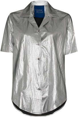 Simon Miller Dade metallic shirt