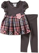 Bonnie Jean Bonnie Baby Baby Girls 12-24 Months Plaid-Skirt Dress & Leggings Set