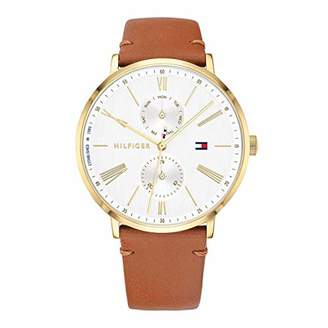 Tommy Hilfiger Women's Stainless Steel Quartz Watch with Leather Calfskin Strap