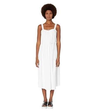 Vince Linen Drape Neck Dress