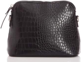 Quiz Black Faux Leather Chain Strap Bag