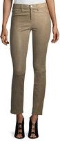 J Brand Jeans Maude Mid-Rise Cigarette Lamb Leather Pants
