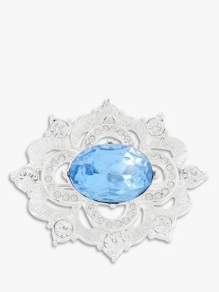 Susan Caplan Vintage Napier Silver Plated Swarovski Crystal Edwardian Brooch, Silver/Blue