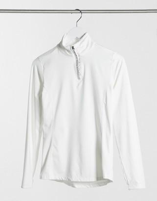 Protest Fabriz 1/4 zip top in white