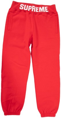 Supreme Red Cotton Trousers