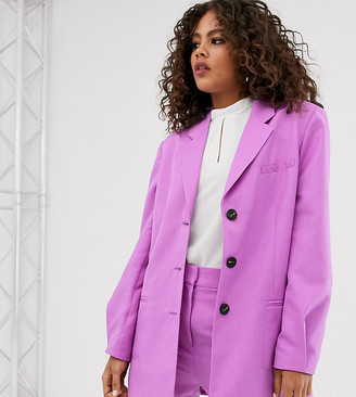 Asos Tall ASOS DESIGN Tall oversized dad blazer in lilac