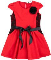 Petit Lem Girls 2-6x Little Girl's & Girl's Contrast Lace Dress