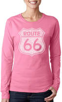 LOS ANGELES POP ART Los Angeles Pop Art Cities Along The Legendary Route 66 Long Sleeve Graphic T-Shirt