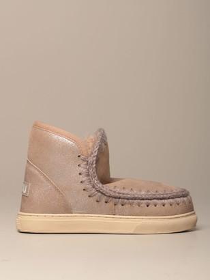 Mou Eskimo Sneakers Boot In Sheepskin