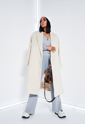 Missguided Lissy Roddy X Grey Co Ord V Neck Ribbed Long Cardigan