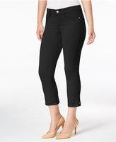 NYDJ Karen Embellished-Hem Capri Pants