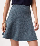 LOFT Herringbone Flare Skirt