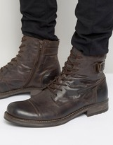 Jack and Jones Siti Leather Boots