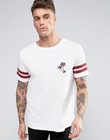 Brooklyn Supply Co. Brooklyn Supply Co Embroidery Palm College Sleeve T-Shirt