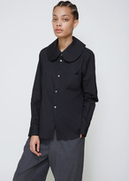 Comme des Garcons Black Long Sleeve Rounded Collar Shirt