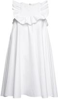 MSGM Ruffle Sleeveless Smock Dress