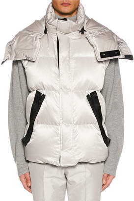 Tom Ford Men's Zip-Front Hooded Puffer Vest