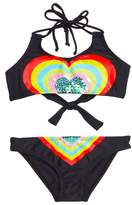 Pilyq Embellished Heart Two-Piece Swimsuit