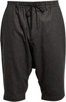 Y-3 Dropped-crotch shorts