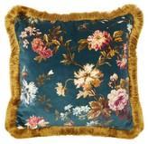 House Of Hackney - Rosetta Floral-print Fringed Velvet Cushion - Green Print