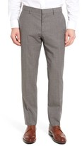 BOSS Men's Genesis Flat Front Check Wool Trousers