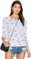 Sundry Black Stars Crop Pullover