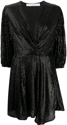 IRO Sequined V-Neck Mini Dress