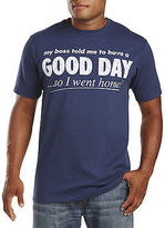 True Nation Good Day Graphic Tee Casual Male XL Big & Tall