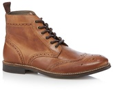 Red Tape Brown Leather Brogue Boots