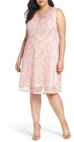Adrianna Papell Plus Size Women's Nautilus Ombre Lace Fit & Flare Dress