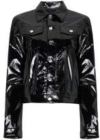 Helmut Lang Vinyl Button-Front Jacket