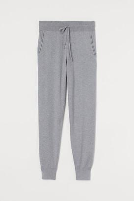 H&M Cashmere-blend Joggers - Gray