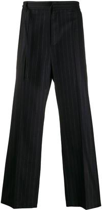 Maison Margiela Pinstripe Loose-Fit Trousers