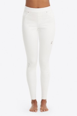 Spanx Distressed Skinny Pull-On Jeans (Plus Size)