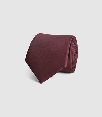Reiss Aiden - Silk Tie in Bordeaux