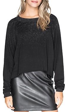 Chrldr Glitz Cropped Fleece Sweatshirt