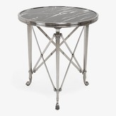 Ralph Lauren Home Cannes Marble Side Table Black & Silver