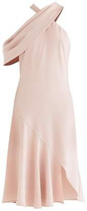 Paisie Love Shawl Dress In Blush