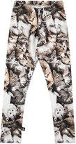 Molo Niki Kitten Stretch Jersey Leggings, Gray, Size 3-12